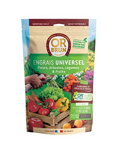Or brun Engrais Universel granulés UAB, Sachet de 1,5kg, Non Applicable