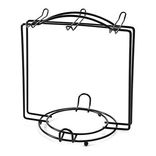 Gmuret Metall Tellerständer für Teetassen und Untertassen, Tellerhalter ständer Eisen Staffelei Display Ständer Schwarz für Schüssel Teller Display Foto ständer