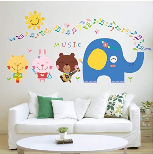 STPillow Muurstickers - Cartoon olifant Mooie dierband voor de kinderkamer Home Decor Art Decals Decoraties kinderkamer sticker