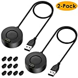EZCO 2-Pack Charger Compatible with Garmin Fenix 5 5S 5X 6 6S 6X, Vivoactive 3 4 4S Music, Replacement USB Charging Cable Stand with 10 Dust Plugs for Venu/Forerunner 935 945/ Instinct Watch