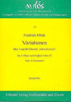 Variationen: über Leopold Mozarts Schwabentanz. 3 Klarinetten (2 Oboen und Englischhorn). Partitur und Stimmen.