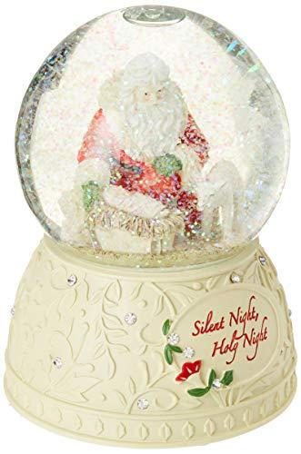 Enesco 6001401 Heart Of Christmas Silent Night Snow Globe Waterfall, 5.71', Multicolor