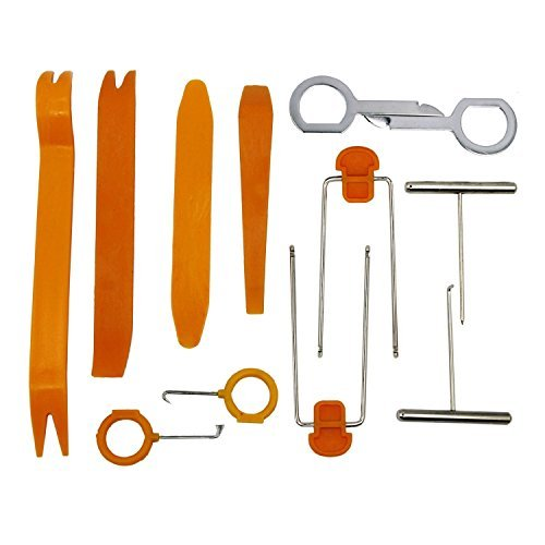 Home-organizer Tech 12 pcs Panel Removal Tool Premium Auto Trim Upholstery Removal Kit Car Dismantle Tools for Video and System