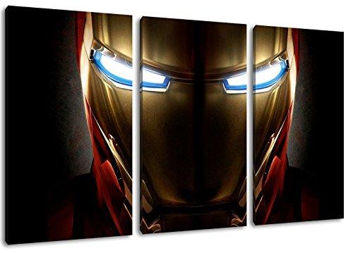 Dark Marvel Helden 3-Teilig auf Leinwand, XXL riesige Bilder fertig gerahmt mit Keilrahmen, Kunstdruck auf Wandbild mit Rahmen