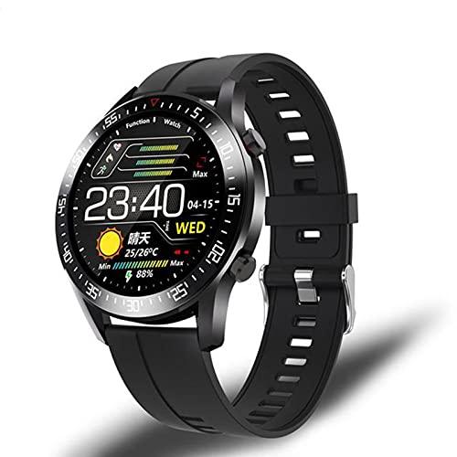 LLM IP68 A Prueba De Agua Smart Watch C2 Pantalla Círculo Completo Táctil Toque Monitoreo Monitoreo Smart Watch Calorie Podómetro Sueño Hombres Y Mujeres Reloj Deportivo para Android iOS,D
