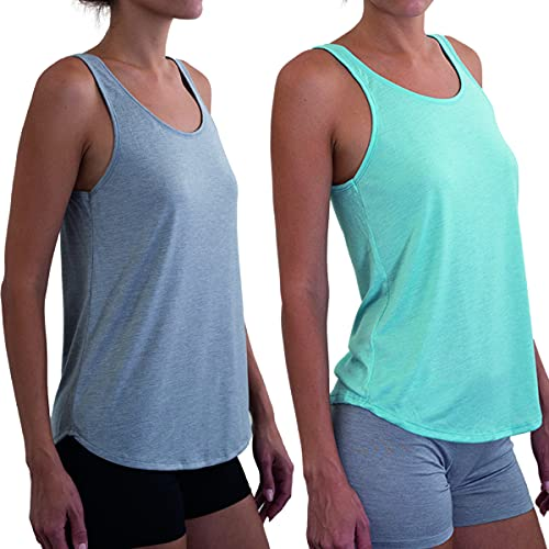 Hanes (2 Pack Women's Ultimate ComfortSoft Light Lounge Tank Tops Active Casual Wear