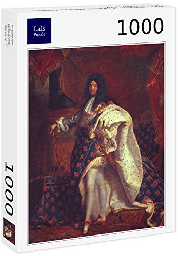 Lais Puzzle Hyacinthe Rigaud - Retrato del Rey francés Luis XIV, Detalle 1000 Piezas