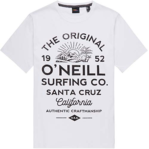 O'Neill LM Muir Camiseta Manga Corta, Hombre, Super White, L