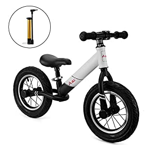 AODI 12 Inch Sport Balance Bike, Pro Lightweight No-Pedal Toddlers Bike Walking Bicycle Ultra-Cool Push Bikes/Air-Filled… -