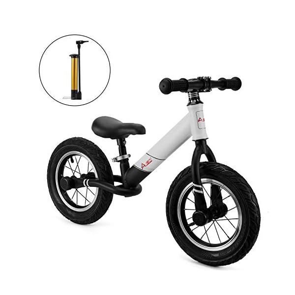AODI 12 Inch Sport Balance Bike, Pro Lightweight No-Pedal Toddlers Bike Walking Bicycle Ultra-Cool Push Bikes/Air-Filled… -
