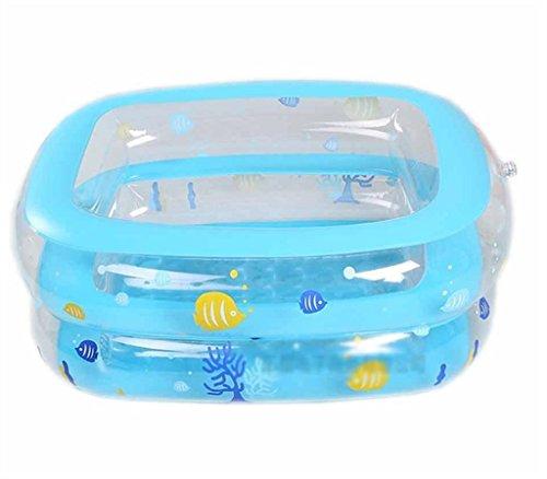 ZHDC® Baignoire gonflable, enfant Pliable Pêche étang en plastique Épaississement bébé Play pool Pliage, pratique