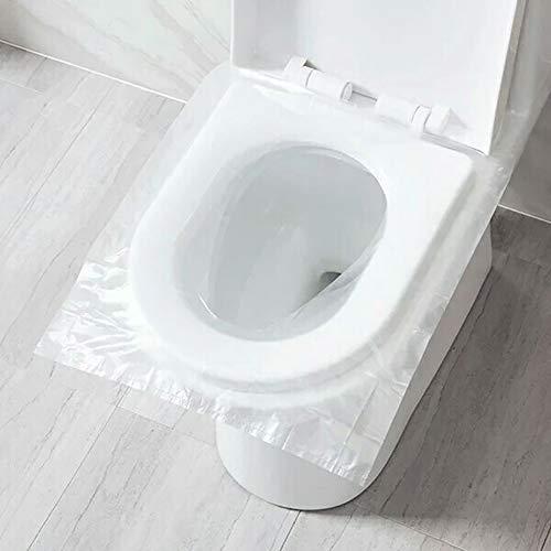 Queta 60PCS Fundas WC Desechables Impermeables, Cobertores de Asiento de inodoros, Funda Asiento Inodoro para Baños Públicos, WC Protector Resistente al agua para Baño/Viaje/Hospital/Hogar
