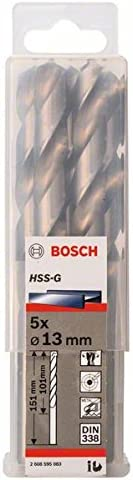 Bosch 2608595083 Metal Drill Bit Hss-G Selling 13mmx3.98inx5.94In 5 Pcs Miami Mall