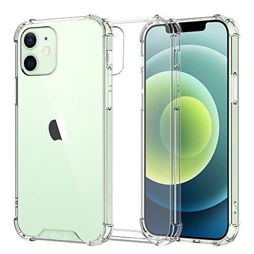 OTBBA iPhone 12 ケース iPhone 12 Pro ケース クリアケース 薄型 耐衝撃 ワイヤレス充電対応 カメラ保護 滑り止め 透明カバー アイフォン12プロケース アイフォン12透明ケース 6.1インチ
