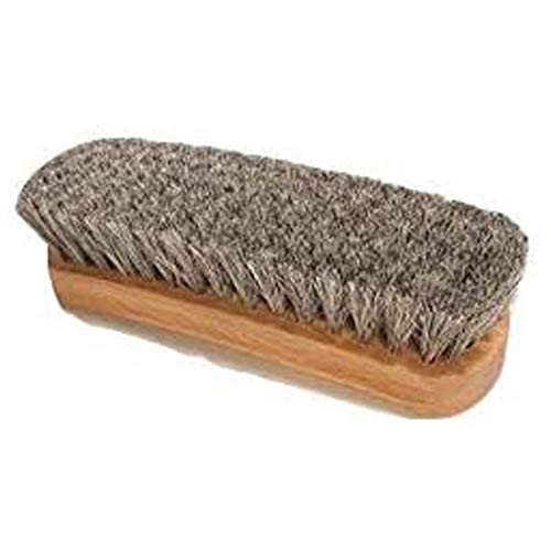 Saphir Natural Horsehair Shoe Brush for Leather Shining, Buffing & Cleaning