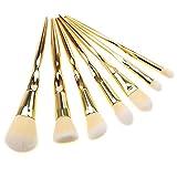 Herramientas De Belleza Pinceles De Maquillaje 7 Piezas Múltiples Funciones De Los Cilios Química Tubo De Plástico Belleza Del Sistema De Cepillo Para El Uso Diario De Oro