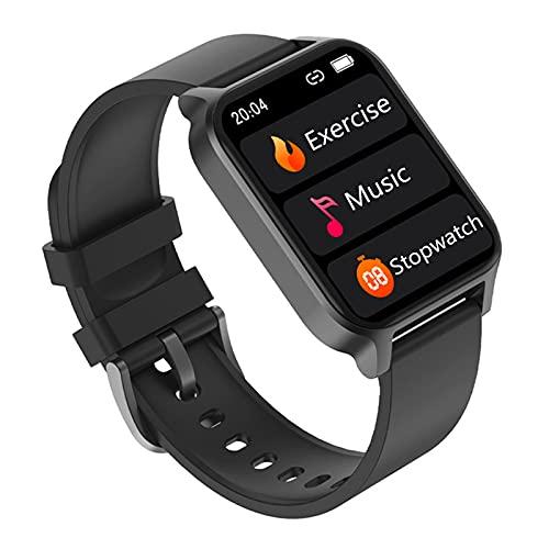 TREWQ Smartwatch, 1.69' Reloj Inteligente Hombre Mujer Impermeable Ip67 Pulsera Actividad con PulsóMetro Monitor De SueñO Monitores Actividad CronóMetros CaloríAs PodóMetro para Android iOS,Negro