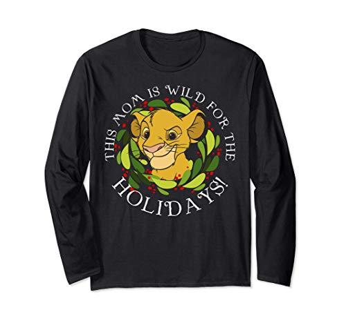 Disney Lion King Simba Mom Wild For Holidays Manche Longue