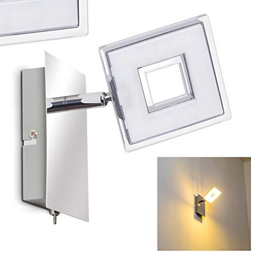 Lampada da soffitto a LED Cracovia con regolabili Spot–LED Faretto da soffitto 3luci in metallo cromato con una luce di colore di 3000Kelvin