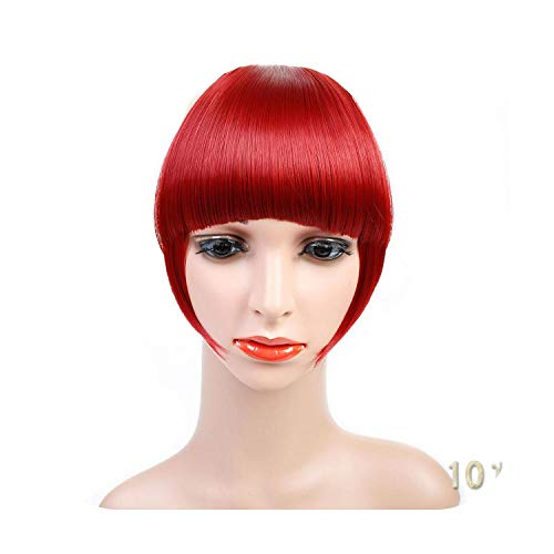 Naturel Noir Brun Neat Front Clip In Hair Bangs Extensions Clip On Synthetic Hair False Fringe Postiches Pour Femmes 2 Styles-101-