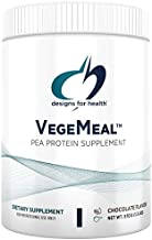 Designs for Health VegeMeal - Chocolate Pea Protein Meal Supplement with 5-MTHF + Creatine (15 Servings / 540g)