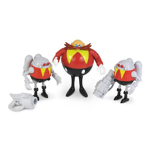 Sonic 20th Anniversary Action Figure 3Pack 1994 Dr. Eggman 2x Red Eggrobos