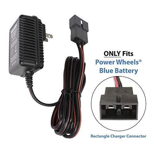 Replacement 6-Volt UL Listed Charger for Fisher-Price Power Wheels Toddler Blue Battery Models 00801-1230 - 00801-1457 - 00801-1868 - 00801-1900 - 00801-0336