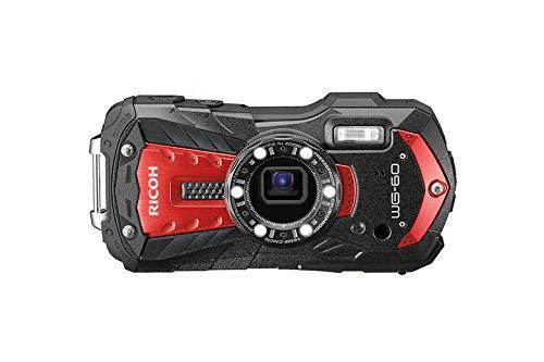 Ricoh WG-60 Kompaktkamera 16 MP 1/2.3 Zoll CCD 4608 x 3456 Pixel Rot - Digitalkameras (16 MP, 4608 x 3456 Pixel, CCD, 5X, Full HD, Rot)