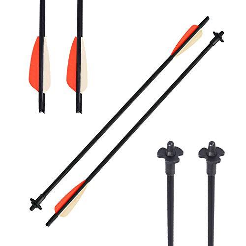 XIXILI 2 Pack Archery Crossbow Release Bolt Fiberglass Arrows Crossbow Decocking Bolt Decocking System (2 Pack)