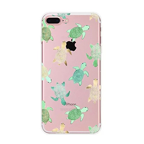 Fancy Case Compatible with iPhone 8 Plus/iPhone 7 Plus-New Cute Animal Series Soft TPU Protective Clear iPhone 8 Plus Case/iPhone 7 Plus Case (Turtles)