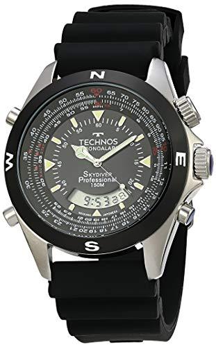Relógio Technos, Pulseira de Plástico, Masculino Preta T20561/8K