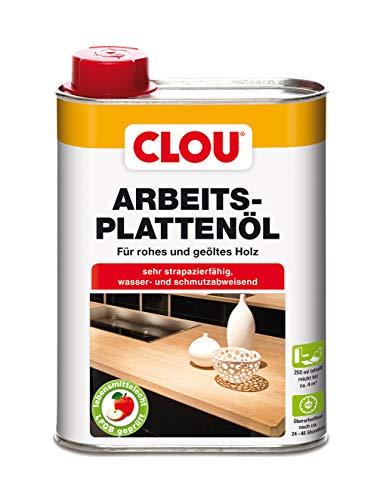 Clou Arbeitsplatten-Öl für rohes und geöltes Holz, wasserabweisende und abriebfeste Öl-Wachs-Kombination, 250ml