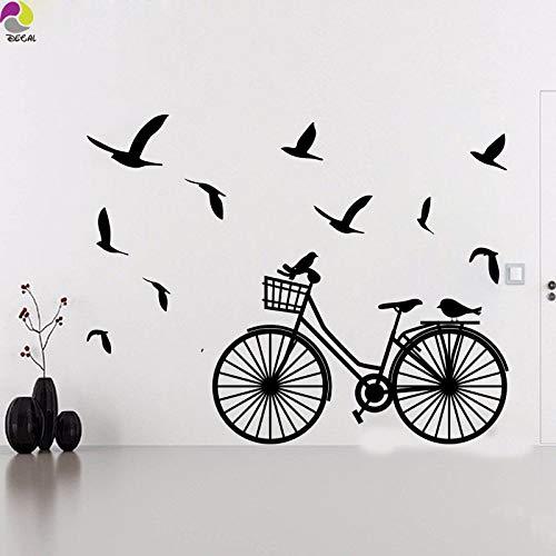 Tianpengyuanshuai Bicicleta, Etiqueta de la Pared del pájaro, Sala de Estar, habitación de los niños, Etiqueta de la Pared del pájaro, Dormitorio, Vinilo, decoración del hogar, 80x103cm