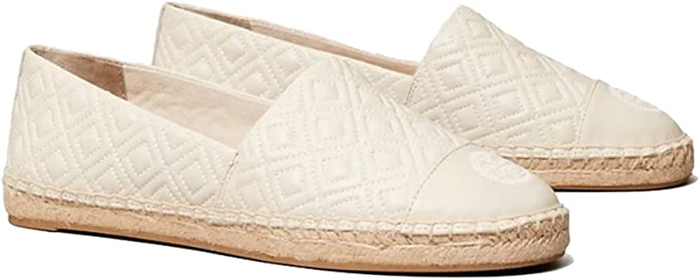 Tory Burch Women's Quilted Flat Espadrilles in Nappa Leather