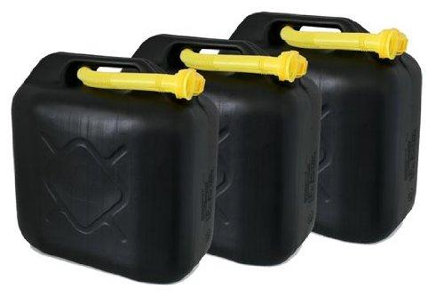 AD Tuning Kunststoff Kanister, 3er Set, Volumen: je 20 Liter (Lieferung ohne Inhalt). Inkl. Ausgieser - Schnorchel.