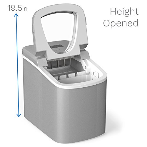 hOmeLabs Chill Pill Countertop Ice Maker - Perfect Ice in 8 to 10...