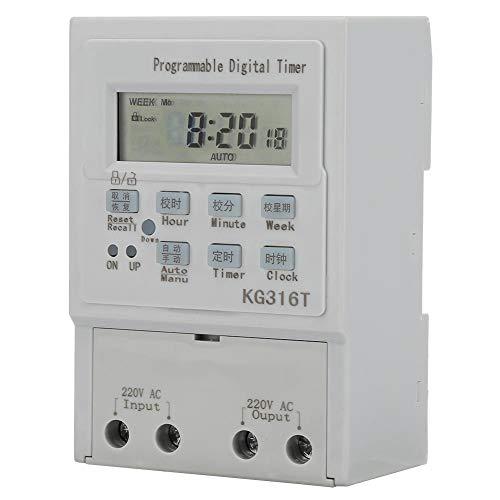 Temporizador digital programable AC 220V 1W 25A zócalo Interruptor de control de 1 minuto - 168 horas