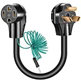 Beauty Kate Dryer Adapter Cord NEMA 10-30P Male to 14-30R Female, 30A, 250V (1.5FT)