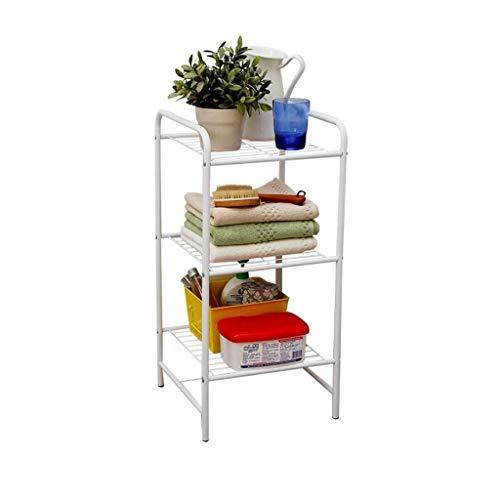 Mlzaq 4-Shelf Regal for Badezimmer, Küche, Wohnzimmer, Garage (Farbe, Gold), Schwarz