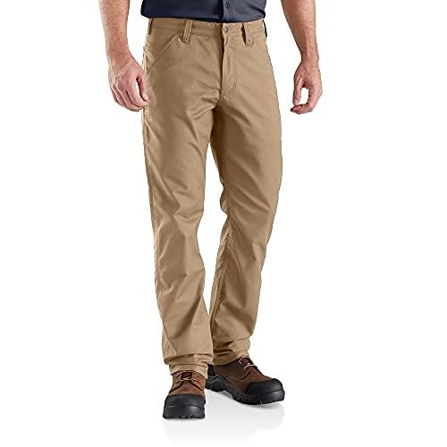 Carhartt Rugged Professional Stretch Canvas Pant Pantalone, Dark Khaki, W38/L32 Uomo