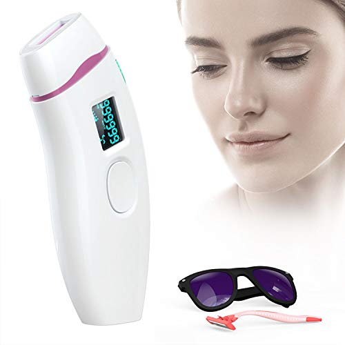 At-Home IPL Hair Removal Device Permanent Painless Hair Remover for Women and Man UPGRADE to 999,999 Flashes Facial Body Professional Hair Treatment Whole body Home Use