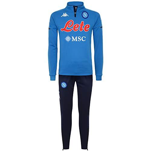 SSC NAPOLI Trainingsanzug Half Zip 2020/21 Trainingsanzug Half Zip 2020/21 Unisex - Erwachsene XL Hellblau - Marineblau