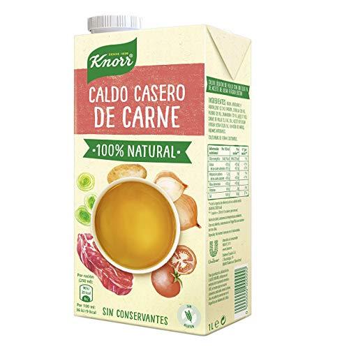 Knorr Caldo Líquido Casero de Carne 100{55332c125bc9d8357d67e7749ed3f0dd9ef88a689e44fafcbd2c5222371f624c} Natural sin Gluten ni Conservantes, 1L (8 unidades)