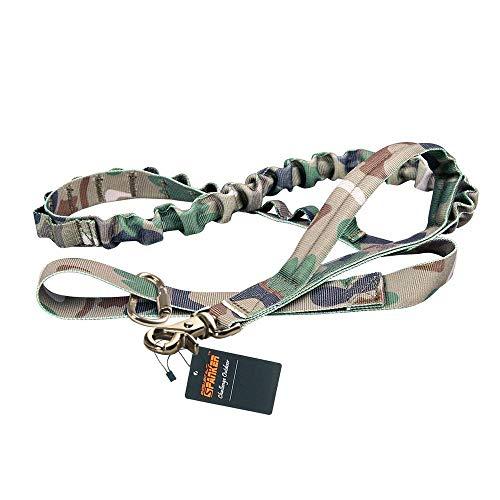 EXCELLENT ELITE SPANKER Taktische Bungee Hundeleine Militär Leine Hunde Elastische Braun Schwarz Hundeleine Walk Trainingsleine(Camouflage)