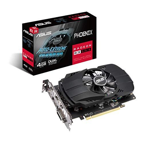 ASUS AMD Radeon Phoenix RX 550 EVO 4GB EVO Grafikkarte GDDR5 Speicher PCIe 30 1x HDMI 20b 1x DisplayPort 14 1x DVI PH RX550 2G EVO