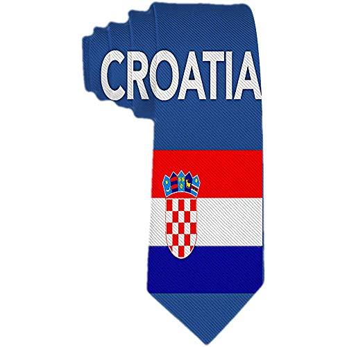 Herren Krawatte Kroatien kroatische Flagge Polyester Seidenkrawatte