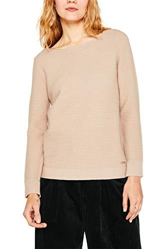 ESPRIT Damen 999Ee1I809 Pullover, Beige (Beige 270), Small (Herstellergröße: S)