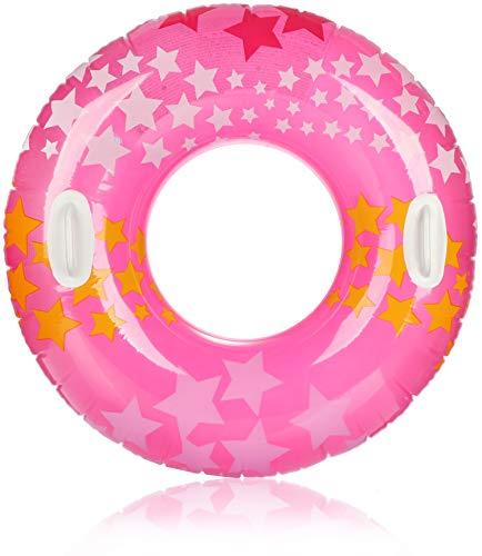 com-four® Schwimmreifen - Großer Schwimmring mit Griffen - Bunter Kinderschwimmreifen [Auswahl variiert] (01 Stück - Ø 91cm mit Griff)