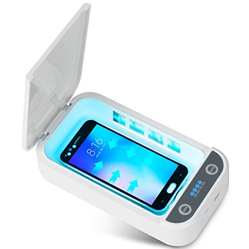 UV Phone Sterilizer Box, Portable UV Light Sterilizer with USB Charging Compatible, Cell Phone UV Sanitizer for iOS Android Smartphones Watch, Tools, Keys