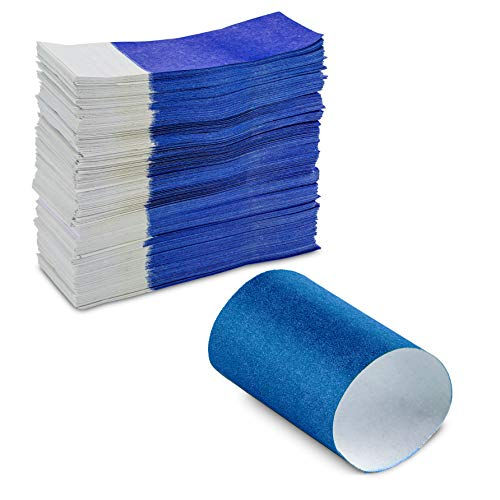 Elegant Self-Adhering Bond Paper Napkin Bands Variety of Colors Size 1.5 inches x 4.25 inches by MT Products (Pack of 750 Pieces) (Blue)